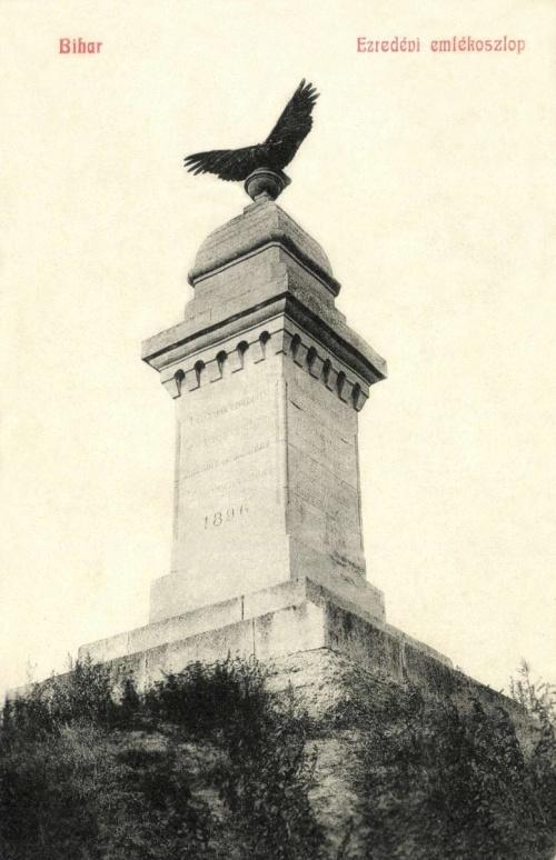 Bihar:ezredévi turul emlékmű,1908-ban.