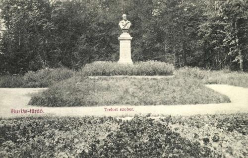 Buziás:Trefort Ágoston közoktatási és vallásügyi miniszter szobra,1908.