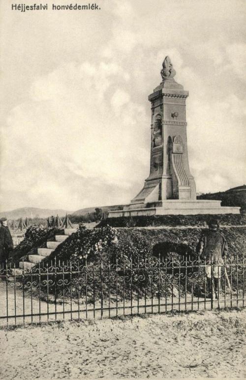 Héjjasfalva:1848-as honvédemlék,1910-ben.