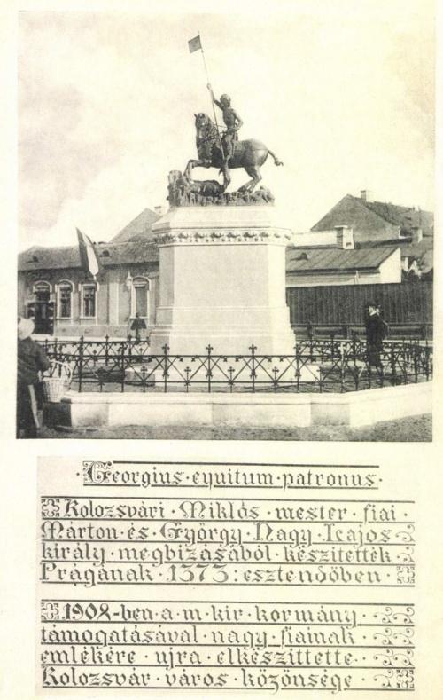 Kolozsvár:Szent György szobor,1908-ban.