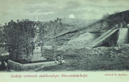 Marosvásárhely:székely vértanúk emlékműve,1899-ben.