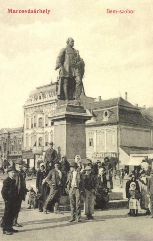 Marosvásárhely:Bem szobor,1908-ban..