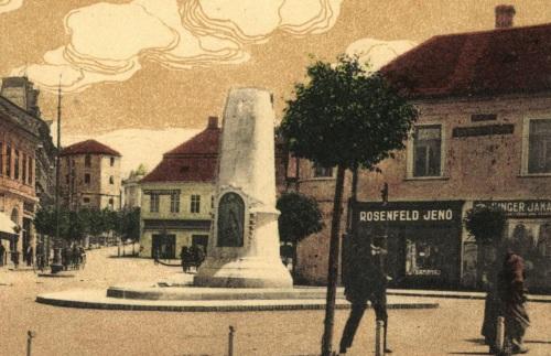 Marosvásárhely:Petőfi emlékmű,1916-ban.