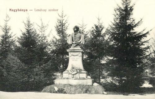 Nagybánya:Lendvay Márton szobra,1912-ben.