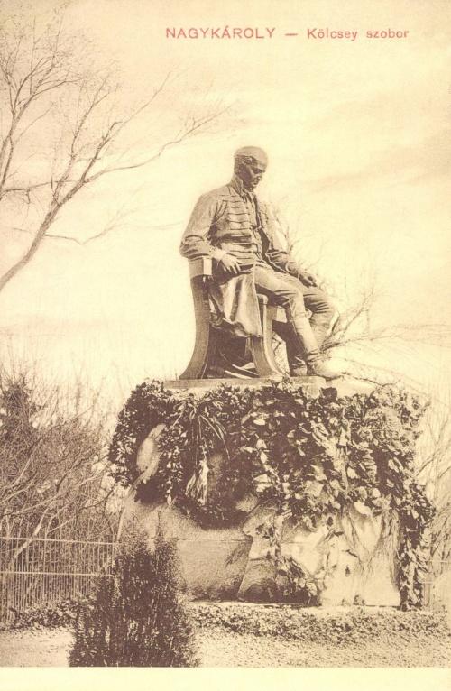 Nagykároly:Kölcsey szobor.1911.