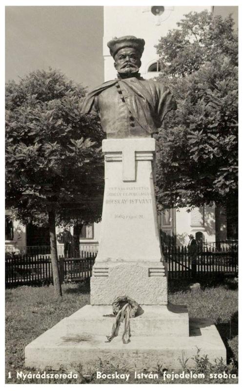 Nyárádszereda:Bocskay szobor.1942