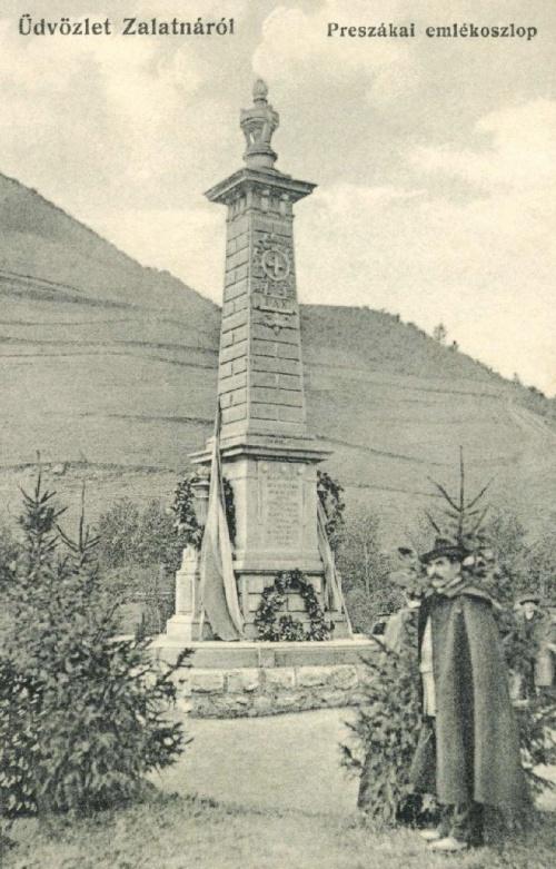 Preszáka:1848-as magyar áldozatok emlékműve.1912