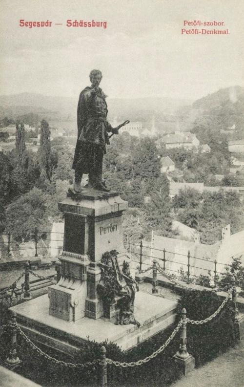 Segesvár:Petőfi szobor.1908