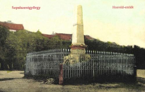 Sepsiszentgyörgy:1848-as honvéd emlékmű,1908-ban.