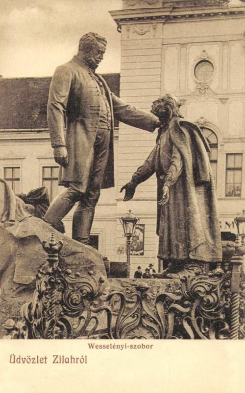 Zilah:Wesselényi szobor,1909-ben.