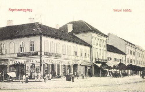Városháza,Városi szálloda,Agrár Takarékpénztár,Deák üzlete,1908
