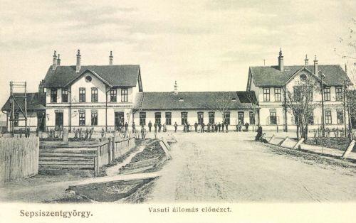 Sepsiszentgyörgy:pályaudvar előnézete,1906.