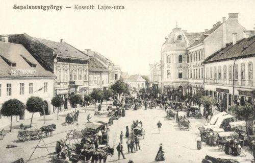Központi szálloda,Kossuth Kávéház,Kozma Lajos és Gyárfás Árpád üzlete,1915.