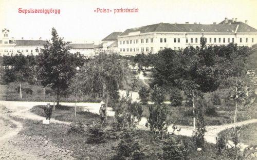 Potsa (József főispán) park,Leányiskola és Mikó Kollégium,1908.