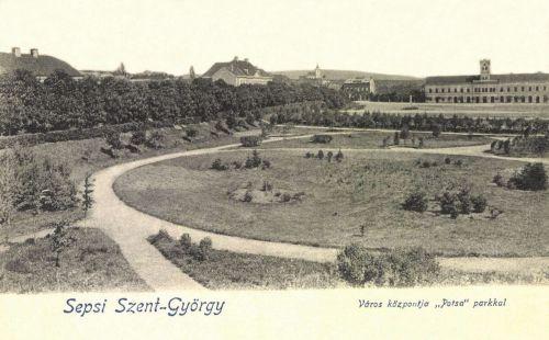 Sepsiszentgyörgy:város központa a Potsa parkkal,1903.