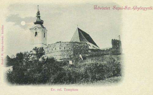 Sepsiszentgyörgy:református templom,(holdas fénynyomat),1900.