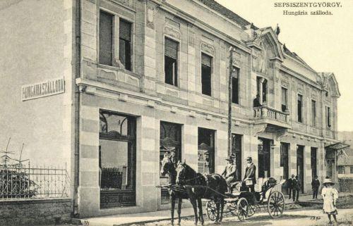 Sepsiszentgyörgy:Hungária szálloda és kávéház,1911.