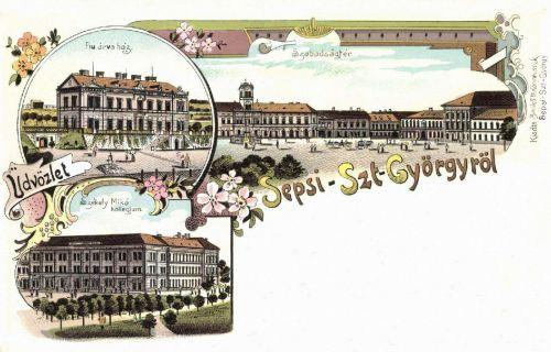 Sepsiszentgyörgy-Sfantu-Gheorghe-Gergen:Szabadság-tér,Mikó Kollégium,1898.