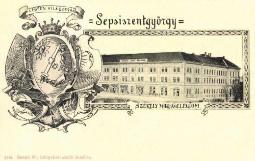 Sepsiszentgyörgy:Székely Mikó Kollégium,LEGYEN VILÁGOSSÁG!1899.