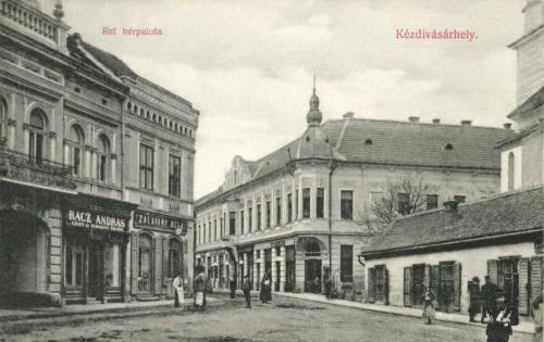Református bérpalota:Rácz András és Zalaváry Béla üzlete,1908.
