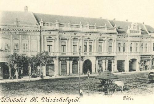 Főtér:Wertan testvérek és Csiszár József üzlete,1899.