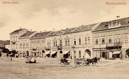 Kézdivásárhely:Főtéri részlet,Bartha Gyula üzlete,1908.