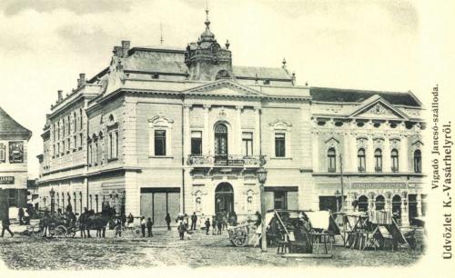 Vigadó és Jancsó szálloda,Kupán József üzlete,1906.