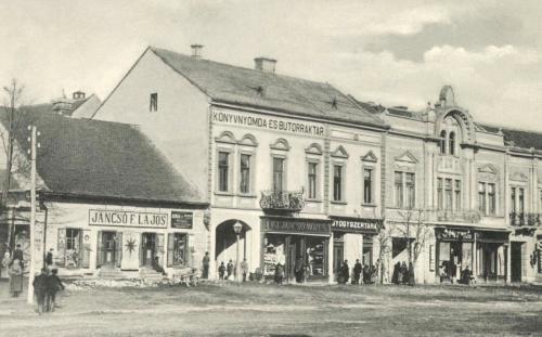 Jancsó üzletek,könyvnyomda és bútorraktár,gyógyszertár,1908.