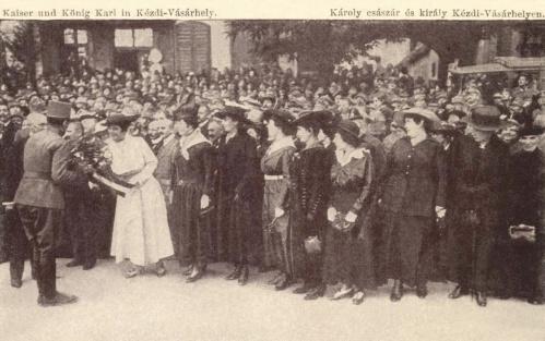 IV Károly király látogatása Kézdivásárhelyen,1917 szept.3.