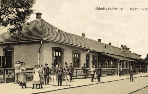 Kézdivásárhely:Pályaudvar (vasútállomás),1916.