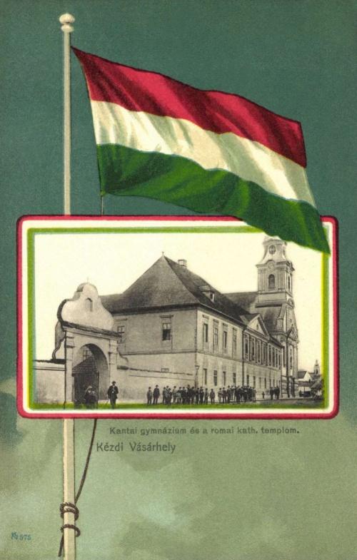 Kézdivásárhely:kantai minorita gimnázium és katolikus templom,1901
