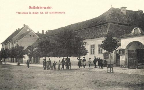 Városháza és Magyar Királyi Állami Tanitóképző,1907.