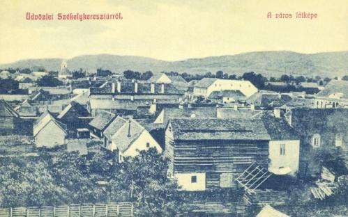Székelykeresztúr:a város látképe,1909.