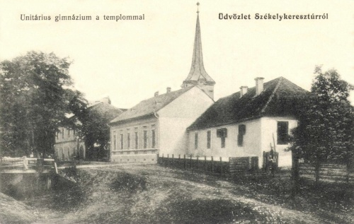 Székelykeresztúr:unitárius templom és gimnázium,1916.