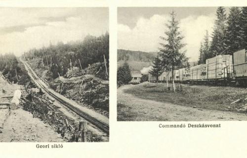 Kommandó:deszkás vonat és a Geori sikló,1916.
