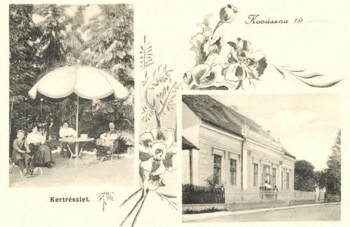Kovászna:Kaszinó és kertrészlet,1906.