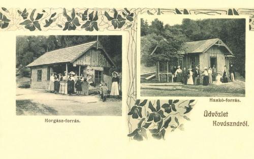 Kovászna:Horgász-,és Hankó-forrás.1906