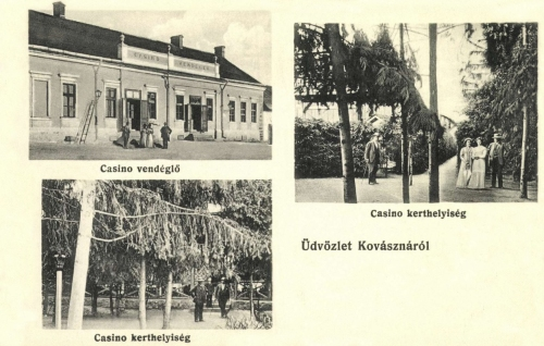 Kovászna:Kaszinó és vendéglő kerthelyisége,1914.