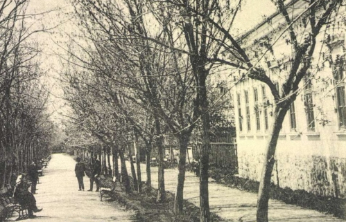 Kovászna:sétatér,1904.