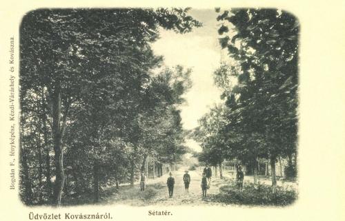 Kovászna:sétatér,1906.