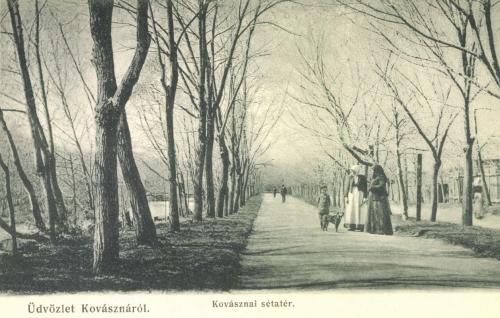 Kovászna:sétatéri részlet,1906.