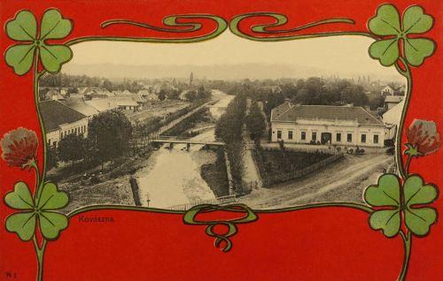Kovászna:látkép szecessziós kerettel,1901.