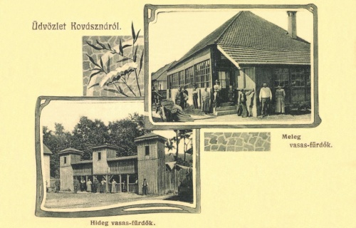 Kovászna:hideg vasas és meleg vasas fürdő,1906.